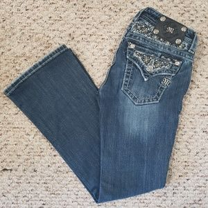 Miss Me Dark Wash Boot Cut Jeans Size 26 MINT